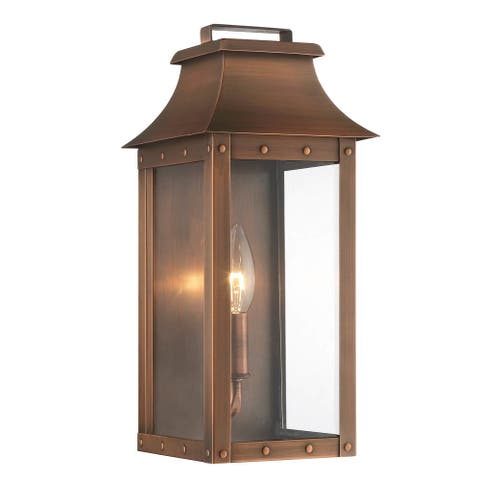 Manchester 1-light Copper Patina Outdoor Wall Mount