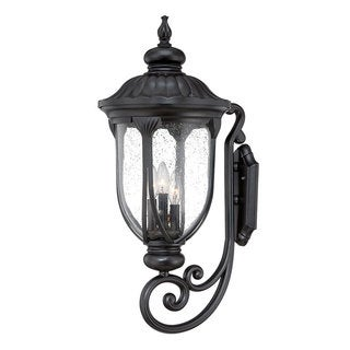Acclaim Lighting Laurens Collection Wall-Mount 3-Light Outdoor Matte Black Light Fixture