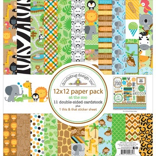 """Doodlebug Double-Sided Paper Pack 12""""X12"""""""