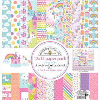 "Doodlebug Double-Sided Paper Pack 12""X12"""
