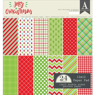 "Authentique Double-Sided Cardstock Pad 12""X12"" 24/Pkg