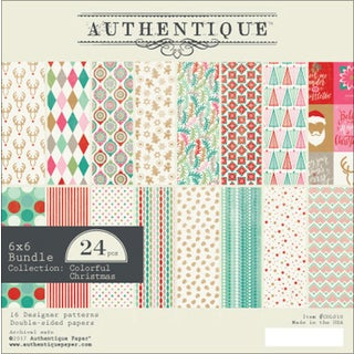 """Authentique Double-Sided Cardstock Pad 6""""X6"""" 24/Pkg"""