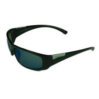 Serengeti Fashion Mens Fasano 8219 Shiny Black w/ Polarized PHD 555 Blue Lens Sunglasses