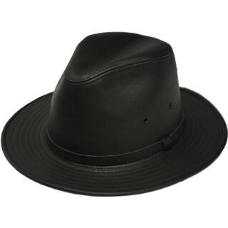 Henschel Safari Leather Fedora Hat