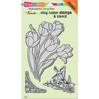 """Stampendous Cling Stamps & Stencil 9""""X5.25"""""""