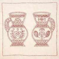 Sashiko World Hungary Stamped Embroidery Kit