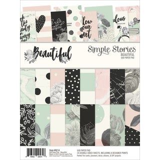 """Simple Stories Double-Sided Paper Pad 6""""X8"""" 24/Pkg"""