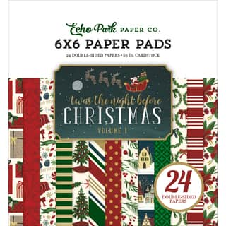 "Echo Park Double-Sided Paper Pad 6""X6"" 24/Pkg