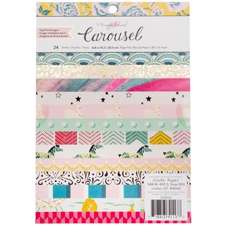 """American Crafts Single-Sided Paper Pad 6""""X6"""" 24/Pkg"""