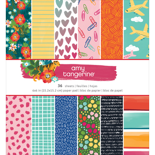 """American Crafts Single-Sided Paper Pad 6""""X6"""" 36/Pkg"""