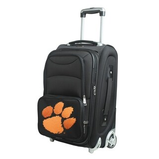 NCAA Clemson Luggage Carry-On 21in Rolling Softside Nylon in Black