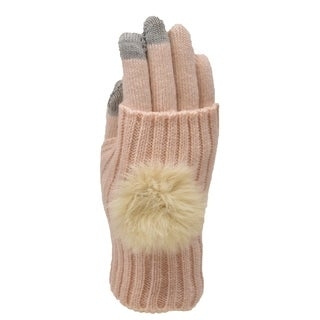 Le Nom Pom Pom Convertible Texting Gloves