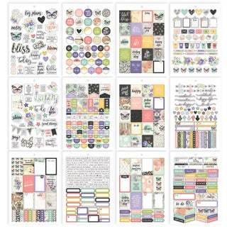 Carpe Diem Bliss A5 Stickers 12/Pkg