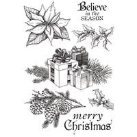 "Christmas Edition Clear Stamps 6""X4"""