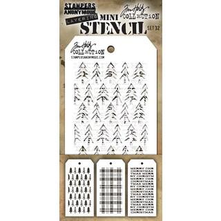 Tim Holtz Mini Layered Stencil Set 3/Pkg
