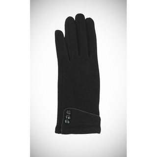Le Nom Solid Color Button Cuffed Gloves