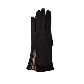 Le Nom Zipper Fur Lined Texting Gloves