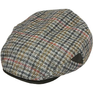 Henschel 5 Point Ivy Italian Wool and Faux Suede Visor Cap