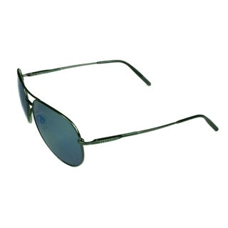 Serengeti Fashion Unisex Medium Aviator 8265 Shiny Dark Gunmetal w/ Polarized 555NM Blue Lens Sunglasses