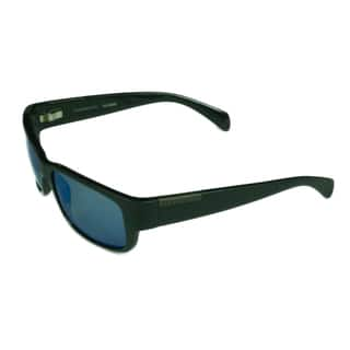 c06ab486bd Serengeti Fashion Unisex Merano 8267 Satin Shiny Black w  Polarized 555NM  Blue Mirror Lens Sunglasses