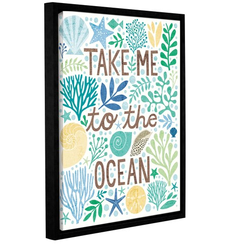 Michael Mullan's Under Sea Treasures IV Sea Glass, Gallery Wrapped Floater-framed Canvas