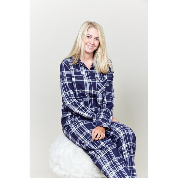 Le Nom Navy Plaid Pajama