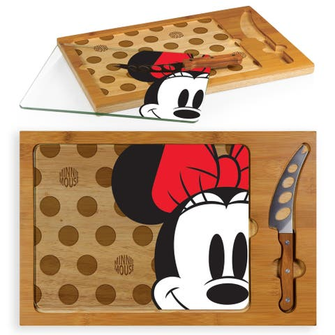 Minnie Mouse - Icon Glass Top Serving Tray & Knife Set