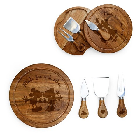 Mickey & Minnie Mouse - Acacia Brie Cheese Board & Tools Set