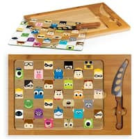Pixar Collection - Icon Glass Top Serving Tray & Knife Set