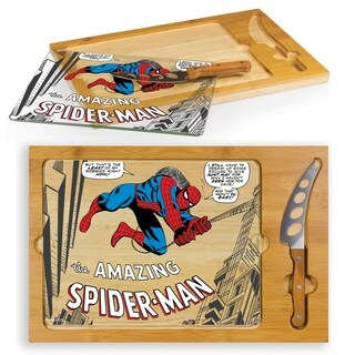 Spider-Man - Icon Glass Top Serving Tray & Knife Set