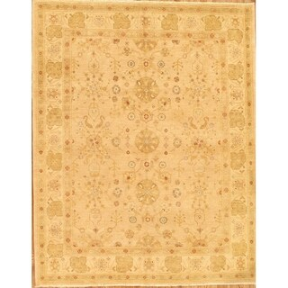 Pasargad Sultanabad Collection Hand-knotted Beige Wool Rug (9'3 x 11'7)