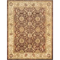 "Pasargad Ferehan Collection Brown/Beige Hand-Knotted Wool Rug ( 8' 0"" X 10' 5"")"