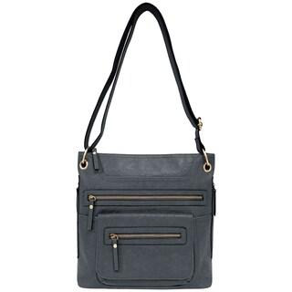 Bueno of California Vegan Leather Crossbody Handbag
