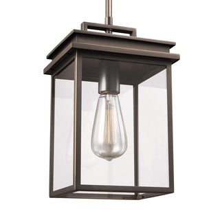 Feiss 1 - Light Outdoor Pendant Lantern, Antique Bronze