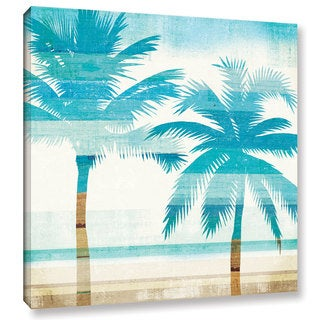 Michael Mullan's Beachscape Palms III, Gallery Wrapped Canvas