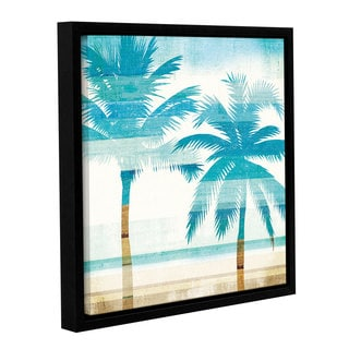 Michael Mullan's Beachscape Palms III, Gallery Wrapped Floater-framed Canvas