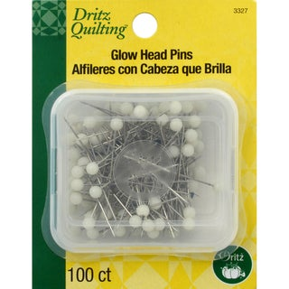 Dritz Quilting Glow Head Pins 100/Pkg