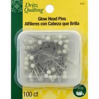 Dritz Quilting Glow Head Pins 100/Pkg