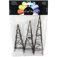 Mini Iron Garden Obelisks 3/Pkg