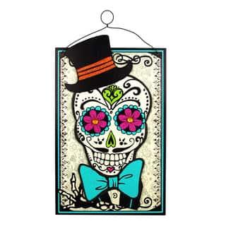 "13"" Dod Skull Orn-Man Halloween Canvas|https://ak1.ostkcdn.com/images/products/18184366/P24330348.jpg?impolicy=medium"
