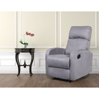 Artiva USA Modern Home Slim Design Microfiber Recliner-Grey