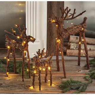 TAG Woodland LED Vine Reindeer Set Of 3
