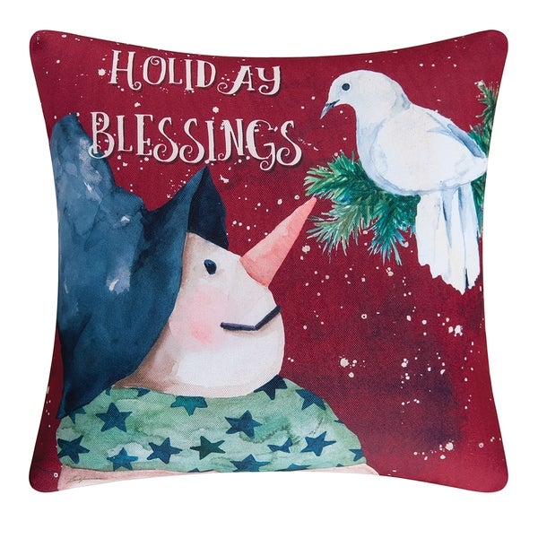 Shop Holiday Blessing Indoor / Outdoor Pillow - Free Shipping On ...