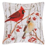 Cardinal Pair Indoor / Outdoor 18 Inch Throw Pillow