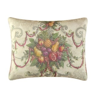 Fruit Wreath High Definition 14x18 Throw Pillow
