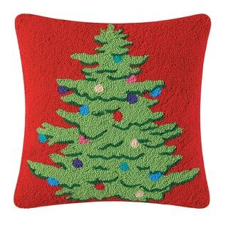 Decorated Tree Hooked 18 Inch Throw Pillow