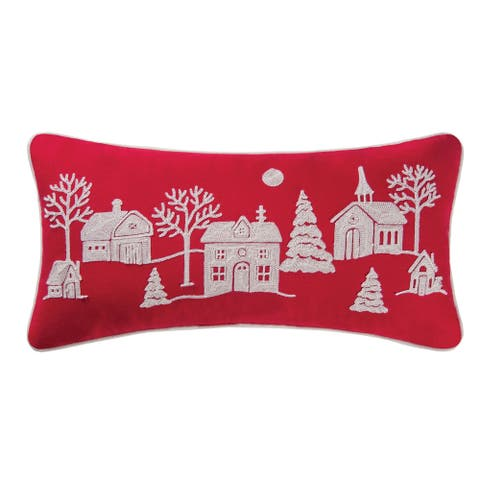 Peaceful Village Rice Stitch 12x24 Throw Decorative Accent Throw Pillow