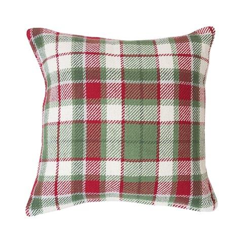 Owen Plaid Woven 18 Inch Throw Decororative Accent Throw Pillow