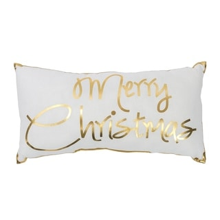 Glam Merry Christmas Printed Pillow 10x19