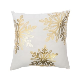 Glam Snowflake Printed 16 Inch Throw Pillow